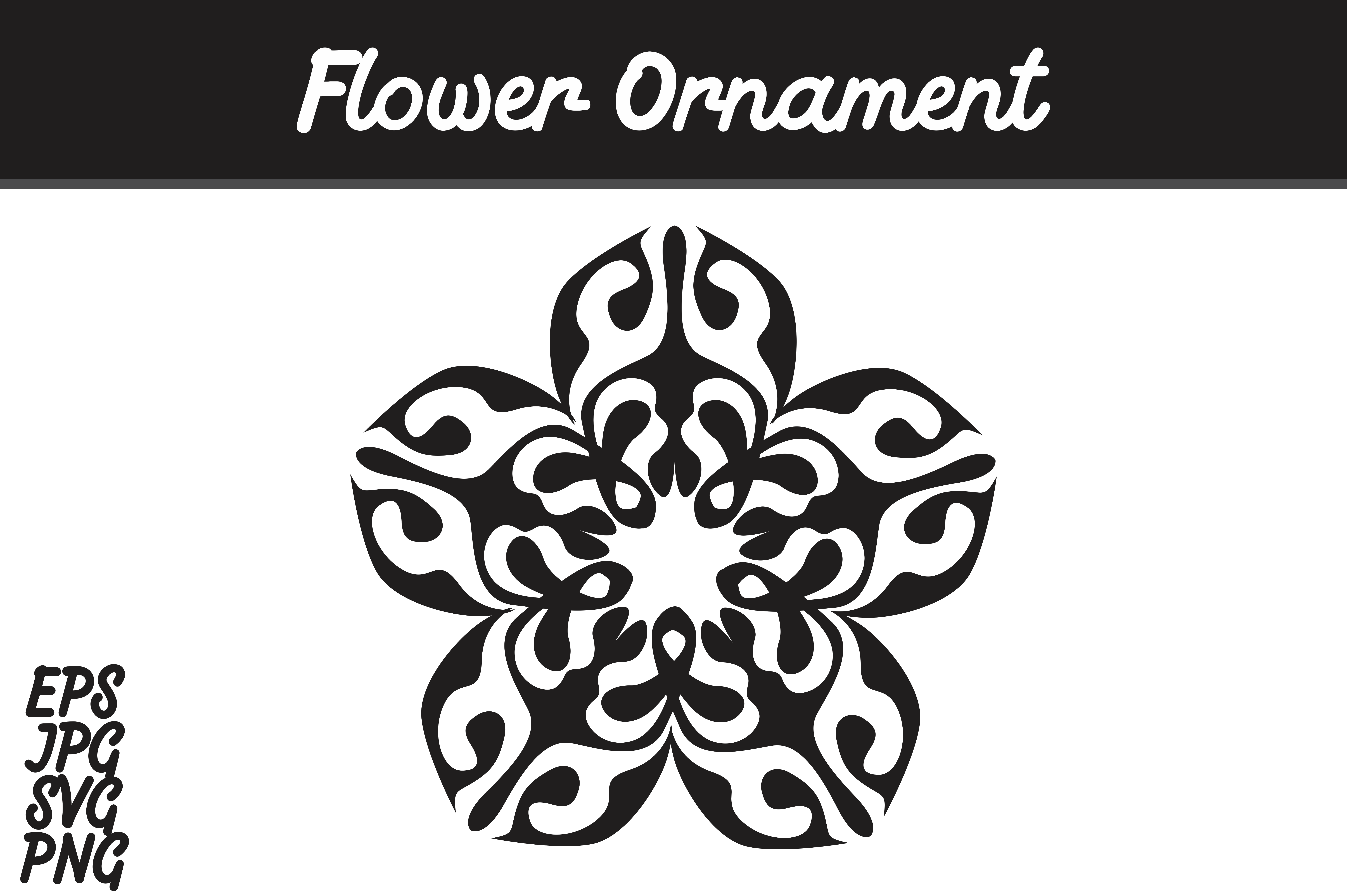 Download Free Flower Ornament Svg Vector Image Graphic By Arief Sapta Adjie for Cricut Explore, Silhouette and other cutting machines.
