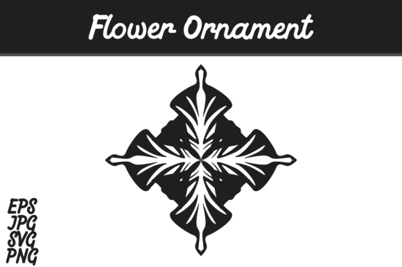 Download Free Flower Ornament Graphic By Arief Sapta Adjie Creative Fabrica for Cricut Explore, Silhouette and other cutting machines.
