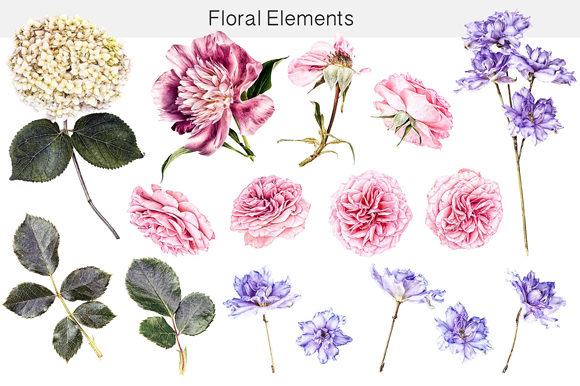 Print on Demand: Flower Studio Clipart Graphic Illustrations By MixPixBox - Image 2