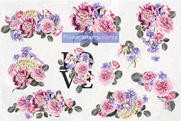 Print on Demand: Flower Studio Clipart Graphic Illustrations By MixPixBox - Image 4