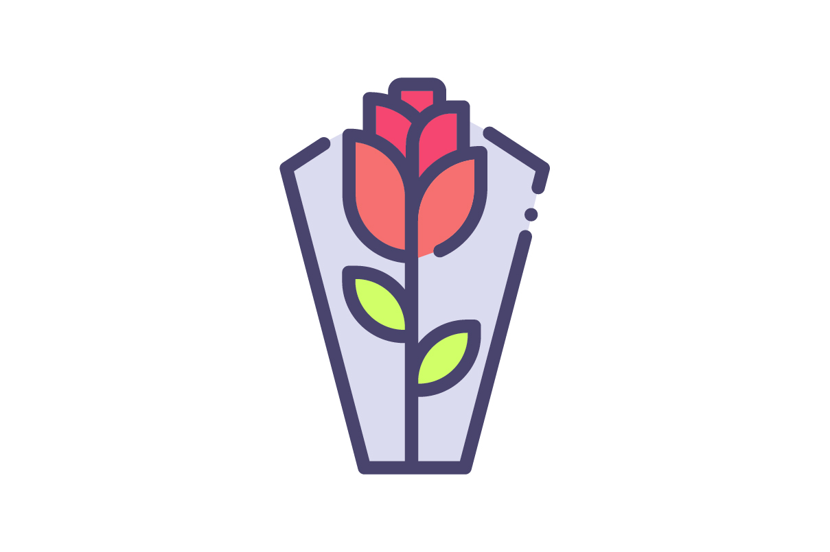Download Free Flower Icon Graphic By Rudezstudio Creative Fabrica for Cricut Explore, Silhouette and other cutting machines.