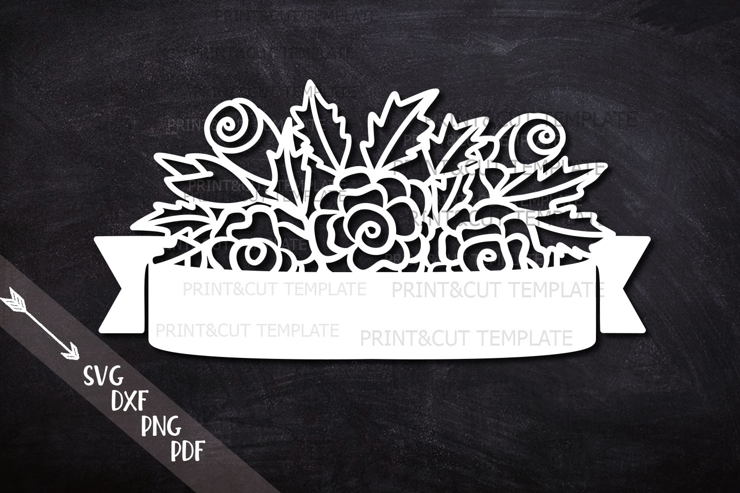 Download Free Flowers Banner Graphic By Cornelia Creative Fabrica for Cricut Explore, Silhouette and other cutting machines.