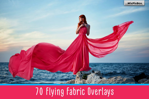 Print on Demand: Flying Fabric Overlays Graphic Layer Styles By MixPixBox
