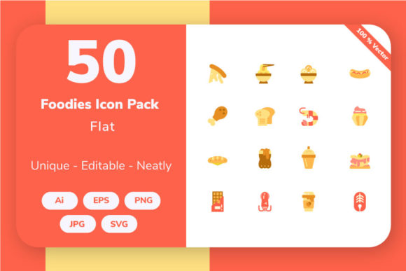 Download Free Food And Beverage Flat Graphic By Icon Stale Creative Fabrica for Cricut Explore, Silhouette and other cutting machines.