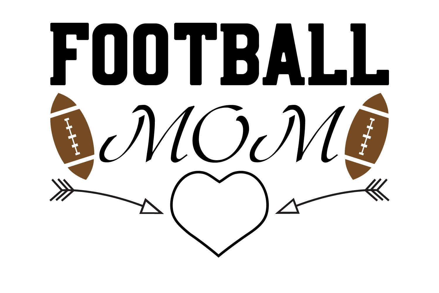 Download Free Football Mom Graphic By Goran Stojanovic Creative Fabrica for Cricut Explore, Silhouette and other cutting machines.
