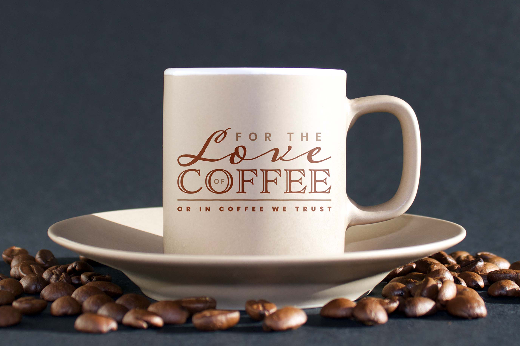 Download Free For The Love Of Coffee Or In Coffee We Trust Graphic By Design A SVG Cut Files
