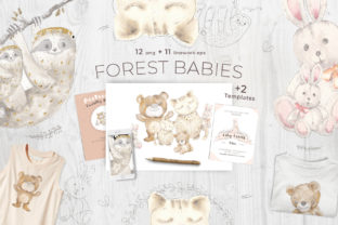 Forest Babies Graphic Illustrations By ramandu
