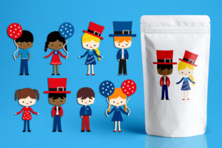 Fourth of July American Kids Graphic By Revidevi