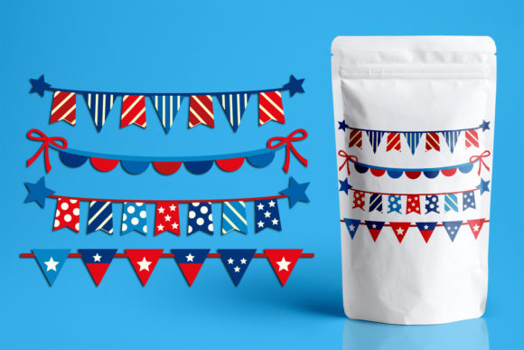 Print on Demand: Fourth of July Banners Graphic Illustrations By Revidevi