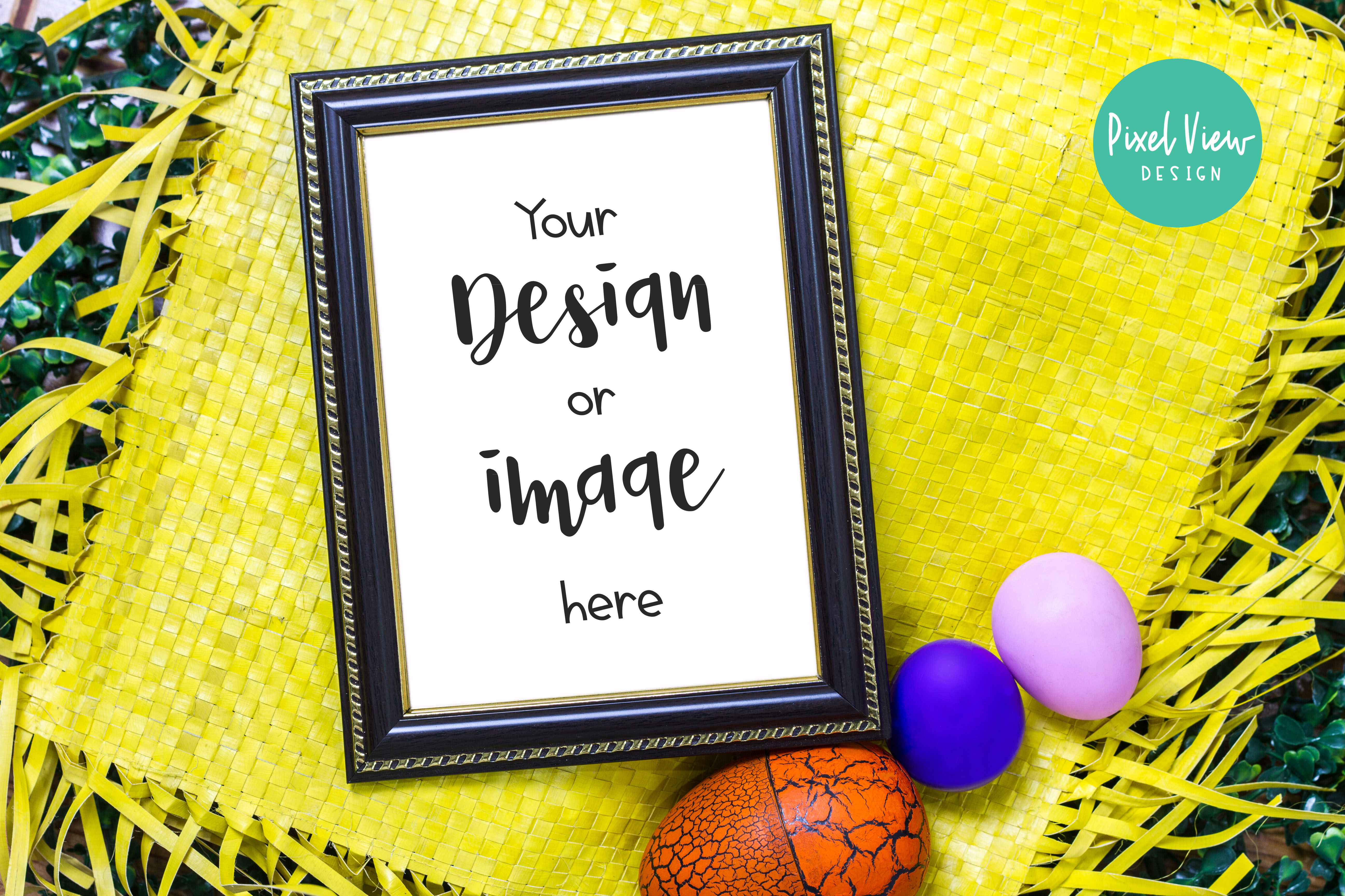 Download Free Frame Easter Mockup Graphic By Pixel View Design Creative for Cricut Explore, Silhouette and other cutting machines.