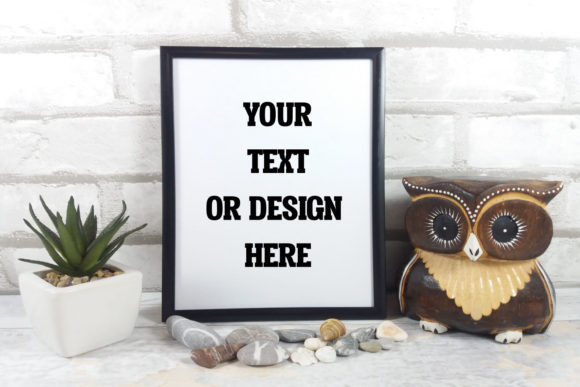 Print on Demand: Frame Mockup Owl Graphic Product Mockups By Goran Stojanovic - Image 1