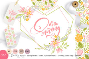 Fresh Feeling Spring Vector Kit SVG Graphic By Happy Letters