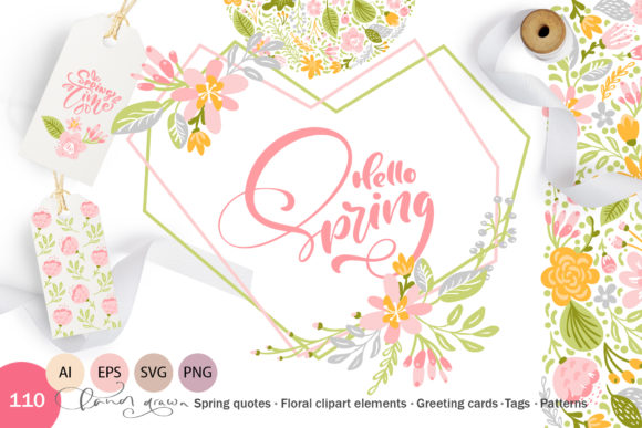 Download Free Fresh Feeling Spring Graphic By Happy Letters Creative Fabrica for Cricut Explore, Silhouette and other cutting machines.