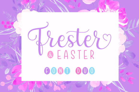 Print on Demand: Frester & Easter Duo Script & Handwritten Font By Situjuh