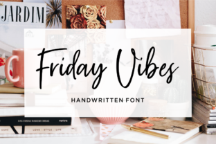 Friday Vibes Font By Sronstudio