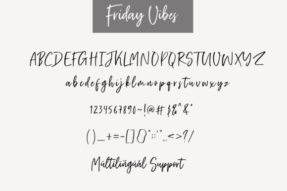 Friday Vibes Font By Sronstudio Image 7