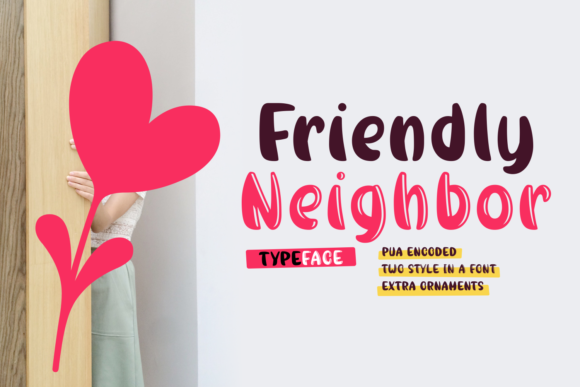 Print on Demand: Friendly Neighbor Script & Handwritten Font By Rifki (7ntypes)