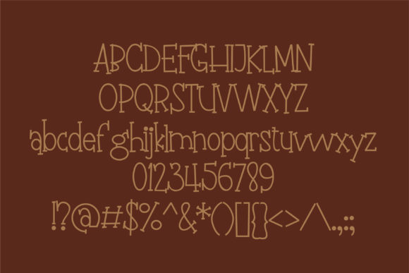Print on Demand: Fudgie Sticks Serif Font By Illustration Ink - Image 4