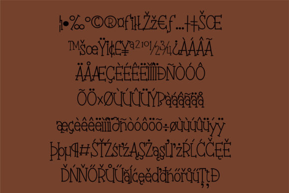 Print on Demand: Fudgie Sticks Serif Font By Illustration Ink - Image 5