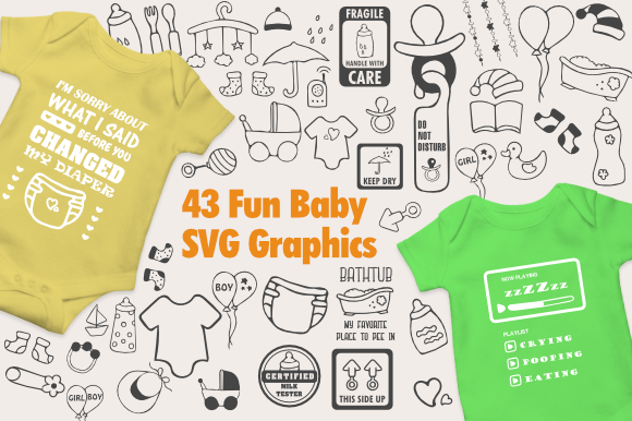 Download Free Fun Baby Graphics Graphic By Artsbynaty Creative Fabrica SVG Cut Files