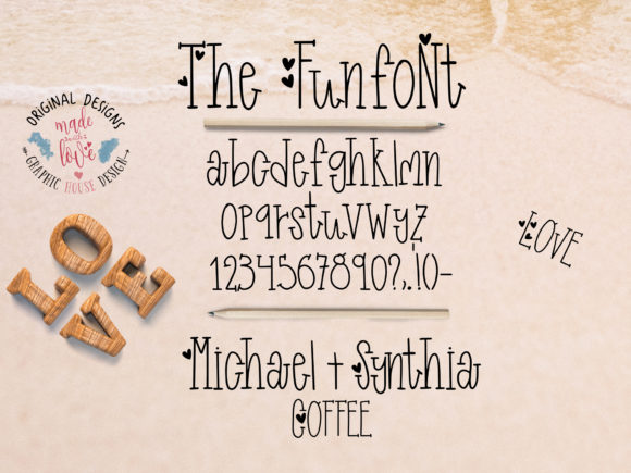 Print on Demand: Funfont Decorative Font By GraphicHouseDesign - Image 2