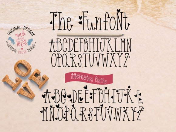Print on Demand: Funfont Decorative Font By GraphicHouseDesign - Image 3