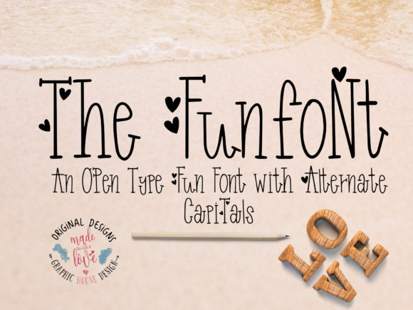 Print on Demand: Funfont Decorative Font By GraphicHouseDesign - Image 1