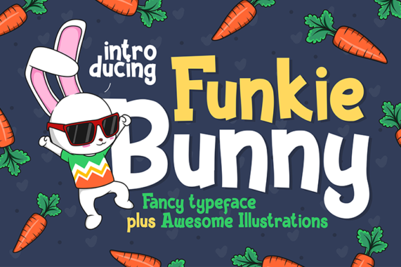Print on Demand: Funkie Bunny Display Font By figuree studio