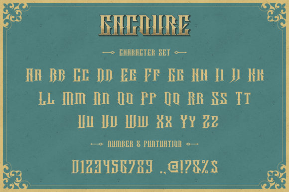 Print on Demand: Gacoure Family Display Font By Fivont - Image 3