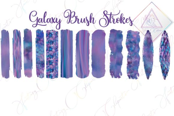 Print on Demand: Galaxy Brush Strokes Clipart Graphic Illustrations By fantasycliparts