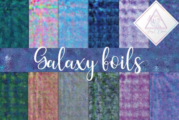Print on Demand: Galaxy Foils Digital Paper Graphic Textures By fantasycliparts