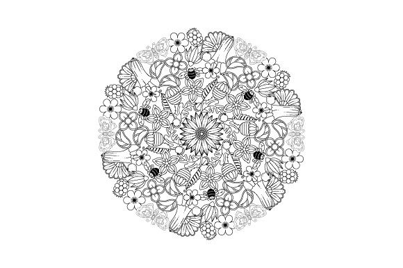 Garden Mandala Design Element