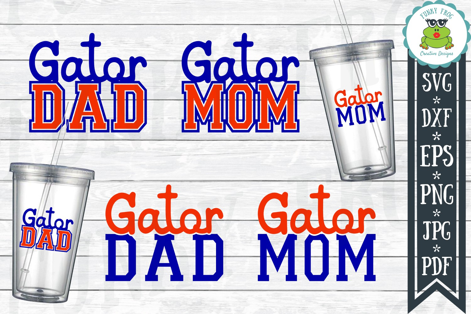 Gator Mom And Gator Dad Graphic By Funkyfrogcreativedesigns