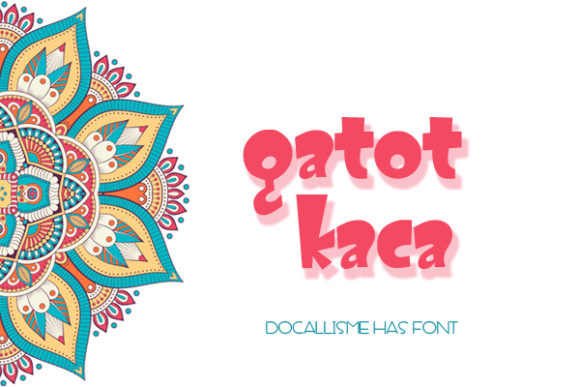 Print on Demand: Gatot Kaca Display Font By Docallisme