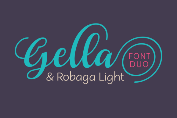Print on Demand: Gella & Robaga Duo Script & Handwritten Font By Situjuh