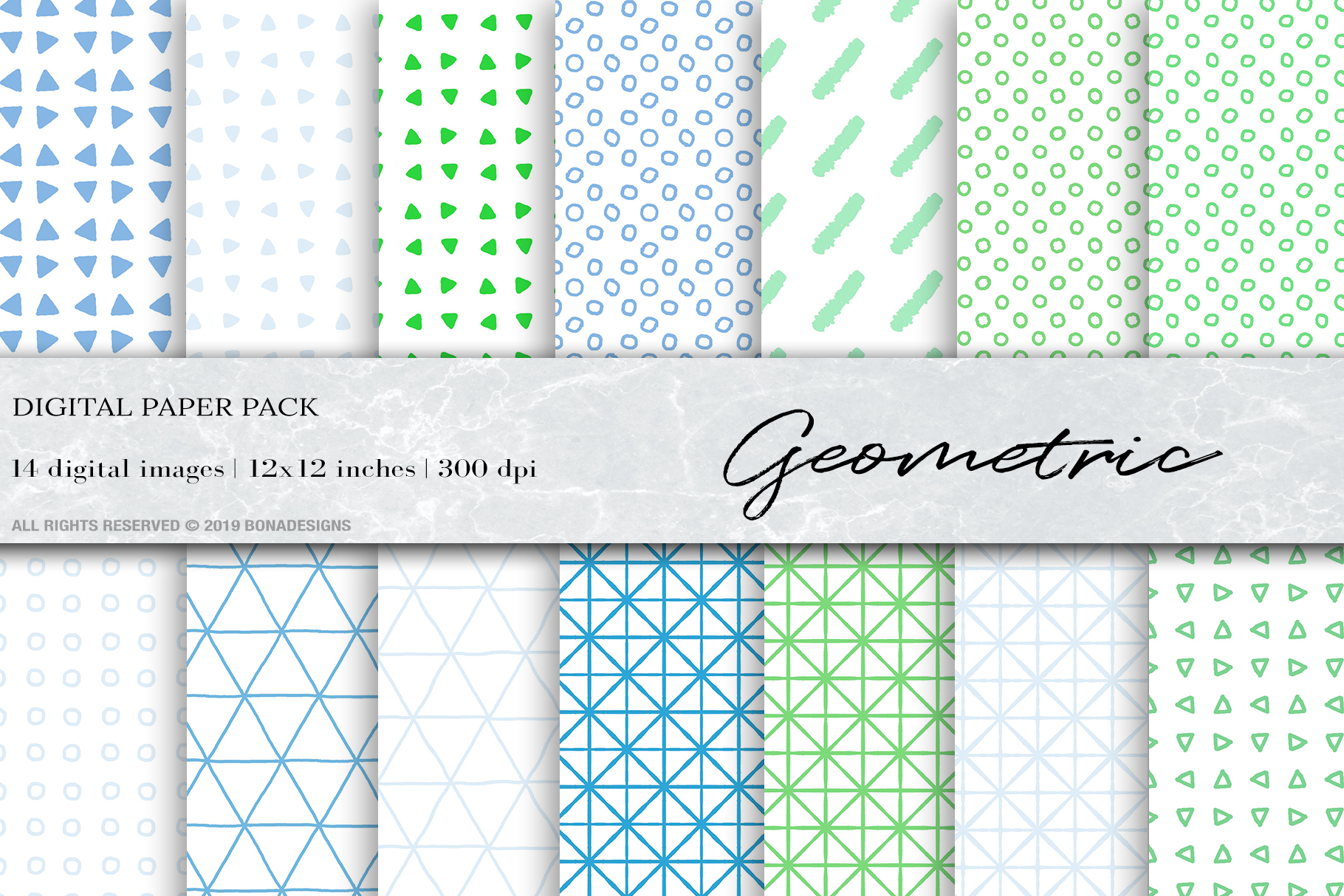 Download Free Geometric Digital Papers Graphic By Bonadesigns Creative Fabrica for Cricut Explore, Silhouette and other cutting machines.