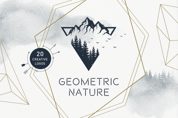 Print on Demand: Geometric Nature. 20 Greative Logos Graphic Logos By Cosmic Store