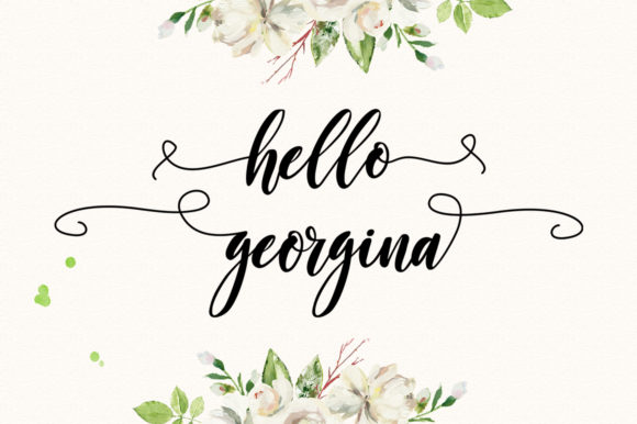 Print on Demand: Georgina Script Script & Handwritten Font By delishadesign.font - Image 5