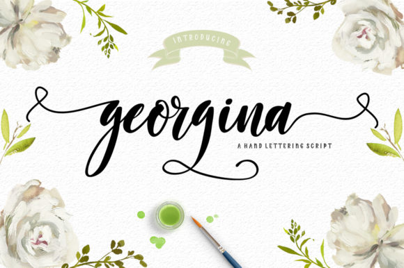 Print on Demand: Georgina Script Script & Handwritten Font By delishadesign.font