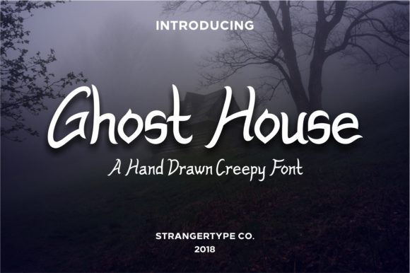 Print on Demand: Ghost House Display Font By Strangertype