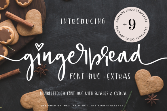 Print on Demand: Gingerbread Duo Script & Handwritten Font By inkyjar