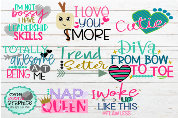 Girl Quote Bundle Svg Graphic Crafts By OneStoneGraphics