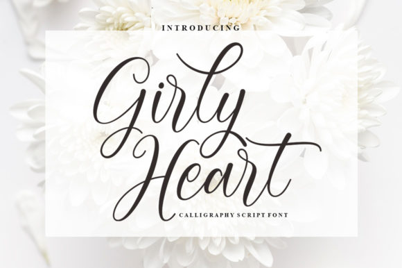 Print on Demand: Girly Heart Script & Handwritten Font By rotterlabstudio
