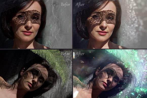 Print on Demand: Glitter Effect Photo Overlays Graphic Layer Styles By MixPixBox - Image 2