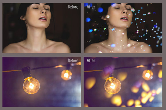Print on Demand: Glitter Effect Photo Overlays Graphic Layer Styles By MixPixBox - Image 3