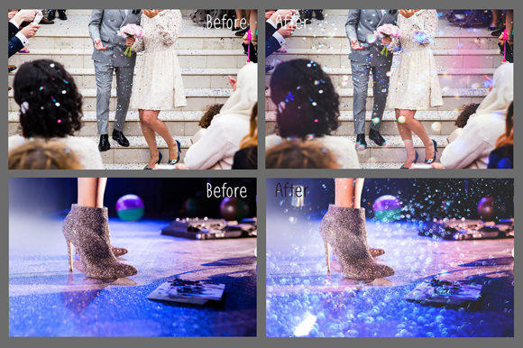 Print on Demand: Glitter Effect Photo Overlays Graphic Layer Styles By MixPixBox - Image 4