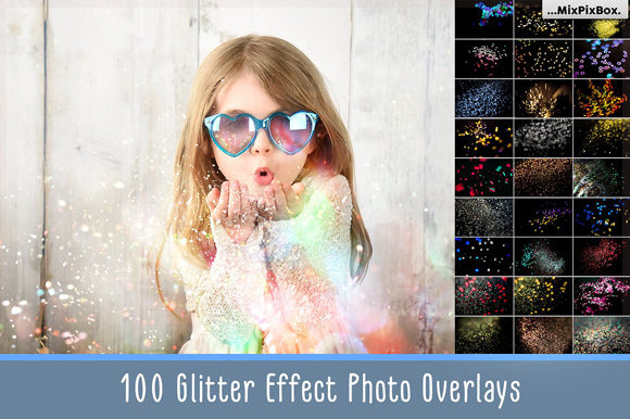 Print on Demand: Glitter Effect Photo Overlays Graphic Layer Styles By MixPixBox