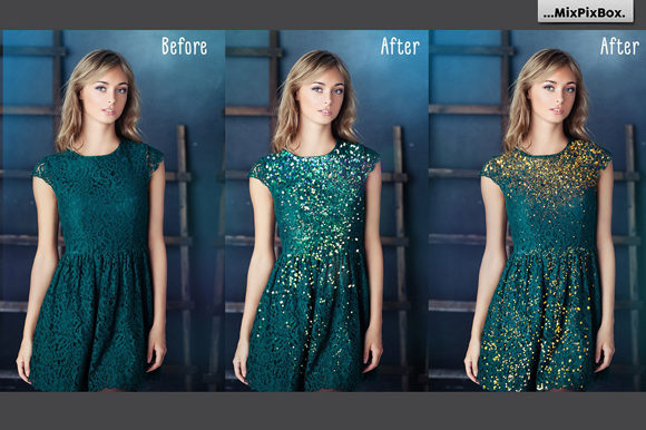 Print on Demand: Glitter Photo Overlays Graphic Layer Styles By MixPixBox - Image 2
