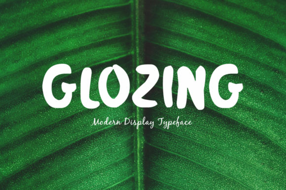 Print on Demand: Glozing Display Font By Spanking Fonts