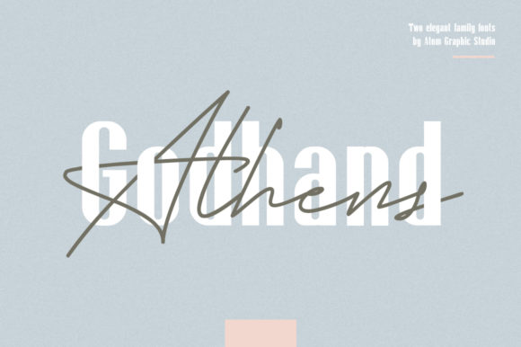 Print on Demand: Godhand Athens Family Script & Handwritten Font By Letteratom